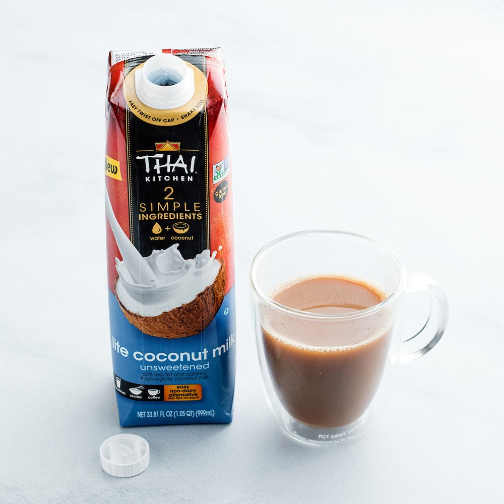 Thai Kitchen Dairy Free Lite Coconut Milk (Resealable, Just Coconuts & Water, BPA Free Packaging, Unsweetened), 33.81 fl oz (Pack of 6) by Thai Kitchen (Image #3)