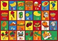 Champion Rugs 8x11 Kids Area Rug ABC Food Learning/ Playtime Carpet (7ft4in.x10ft4in.)
