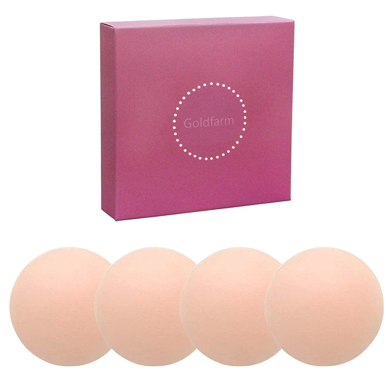 NippleCovers, Pasties, Silicone Nippleless Cover Reusable Breast Pasties (2 Pairs Round 2019 Version)