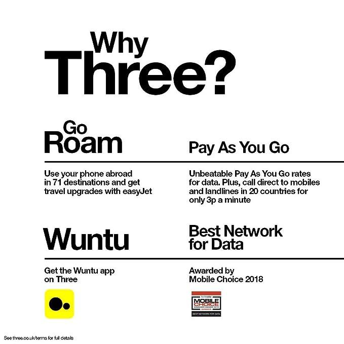 Three Mobile 12 GB Data Pay As You Go SIM