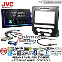 Volunteer Audio JVC KW-X830BTS Double Din Radio Install Kit with Bluetooth SiriusXM Ready Fits 2009-2014 F-150