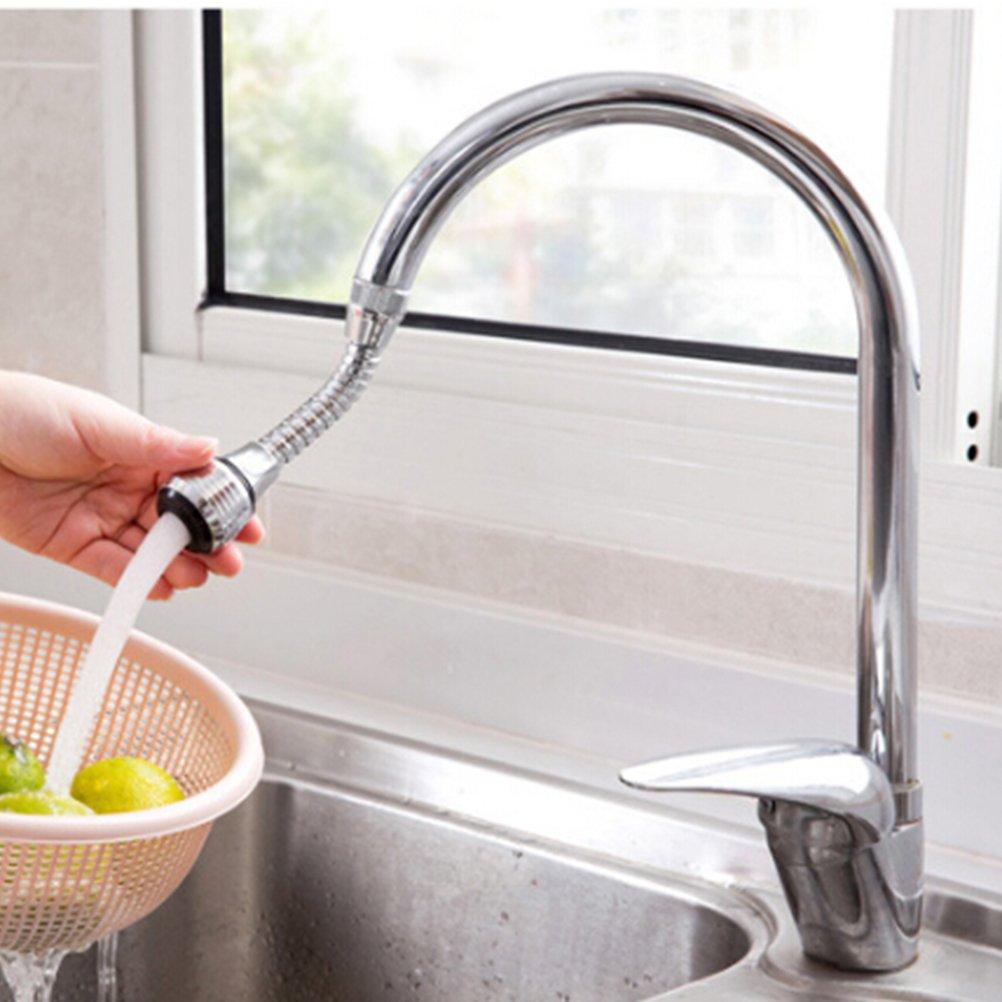 Bestonzon pivotante /à 360//° ABS /économie deau Robinet A/érateur de bec Diffuseur de filtre de robinet d/économie deau Accessoires de Cuisine Long
