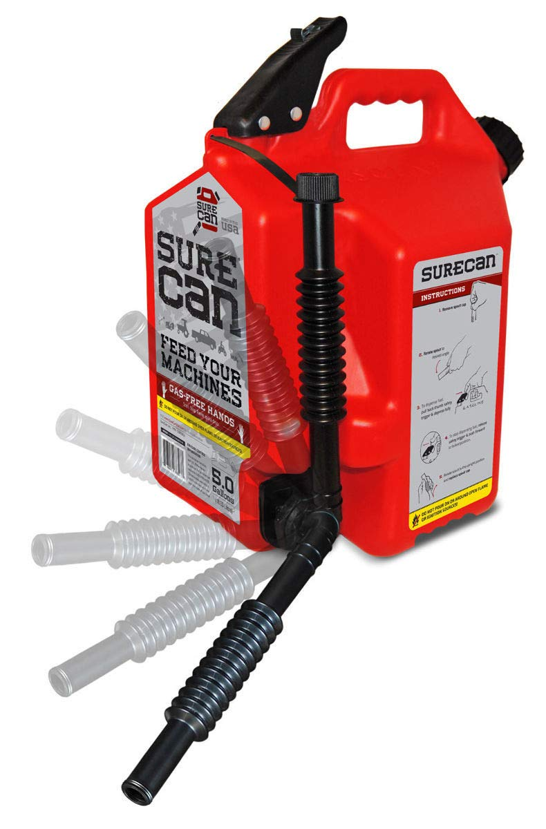 SureCan - Gas Can with Rotating Spout - 5.0 Gallon (SUR50G1) by Surecan