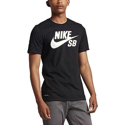 Nike SB Logo tee Camiseta, Hombre, Negro Black/White, 2XL