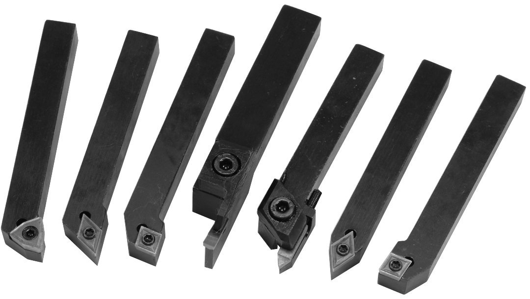 HHIP 2002-0014 7 Piece 5/8 Inch Indexable Cut Off & Turning Tool Set ABS Import Tools Inc.