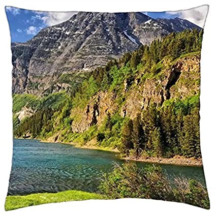 wonderful river landscape in montana hdr - Throw Pillow ...