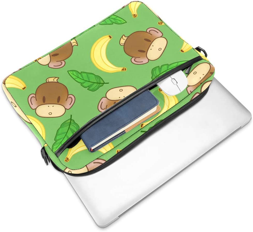 imobaby Baby Monkeys and Bananas Laptop Messenger Shoulder Bag Notebook Sleeve Carrying Briefcase Handbag 15-15.4 inches