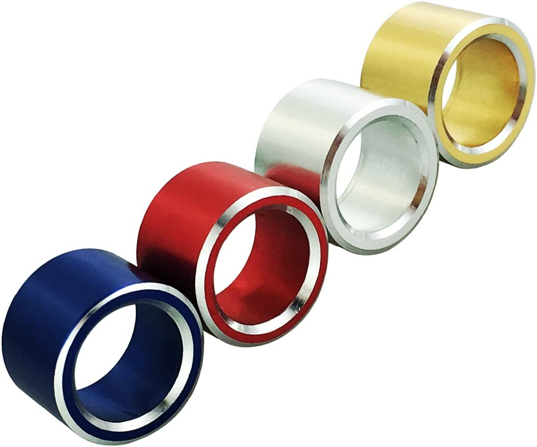 Red Abfer Air Condition Control Switch Ring Shape Car Conditioning Knob Button Cover 1pcs Aluminum Decorative Knob for Impreza Subaru WRX Forester STI Outback