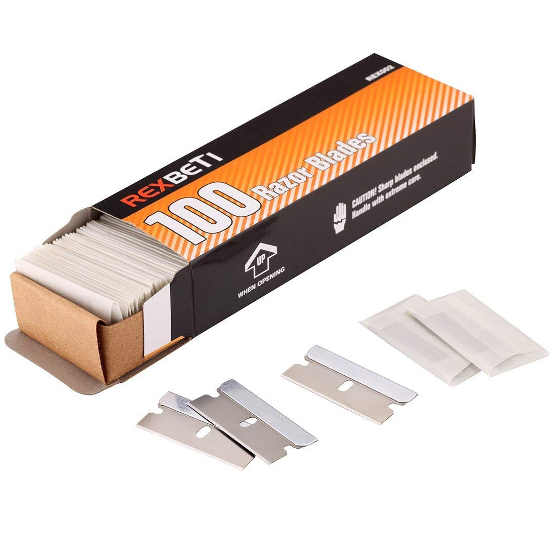 Single Edge Industrial Razor Blades By REXBETI, Box of 100