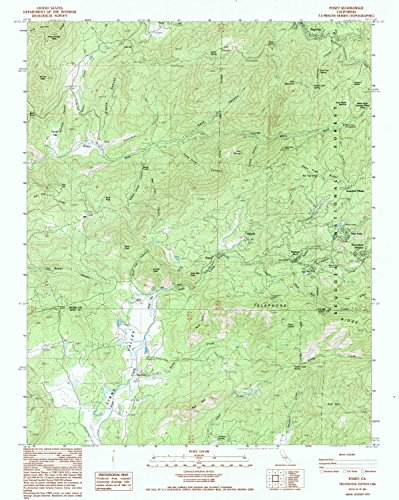 (YellowMaps Posey CA topo map, 1:24000 Scale, 7.5 X 7.5 Minute, Historical, 1986, Updated 1994, 26.8 x 21.4 in - Paper)