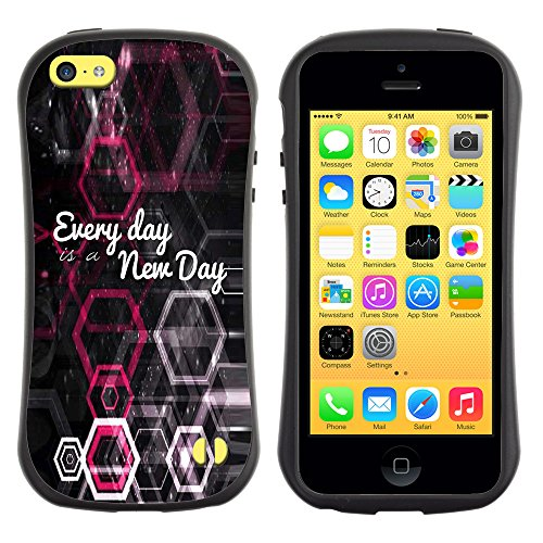 DREAMCASE Citation de Bible Silicone et Rigide Coque Protection Image Etui solide Housse T¨¦l¨¦phone Case Pour APPLE IPHONE 5C - EVERY DAY IS A NEW DAY
