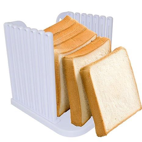Pan molde para tostadas MyLifeUNIT plegable de cóctel para hacer cortador de cuchillo rebanador de para
