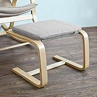 Haotian SoBuy FST38-HG, Beech Wood Footstool Footrest with Cushion, Foot Leg Rest