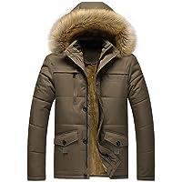Doudoune en Coton, Internet Homme Hiver Chaud Manteau Plus épais Veste à Capuche