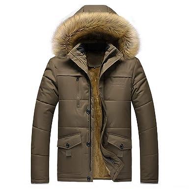 8c14c22f059b Doudoune en Coton, Internet Homme Hiver Chaud Manteau Plus épais Veste à  Capuche