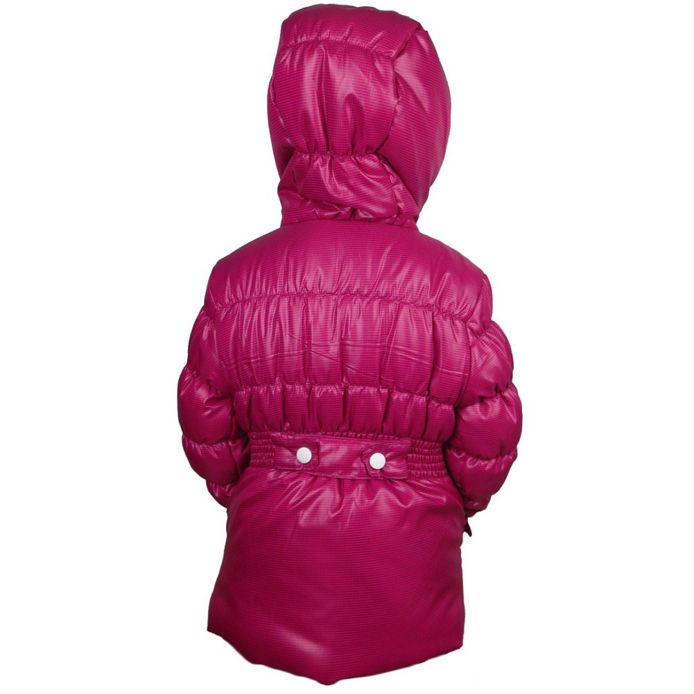 Girls Fashion Winter Coat Insulated Fleece-Lined Hooded Weatherproof Puffer Jacket