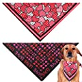 GeiGei Pet Dog Bandanas Washable Triangle Cute Scarf Bow Ties for Dogs and Cats