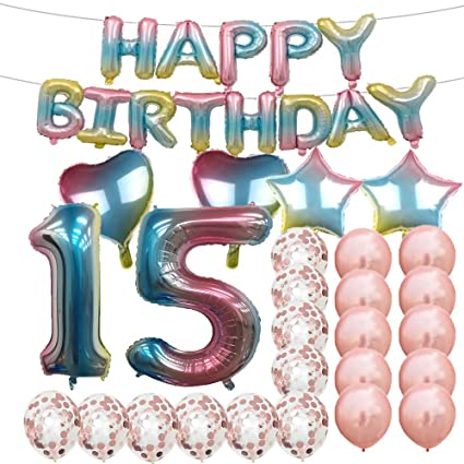 Amazon Sweet 15th Birthday Decorations Party SuppliesRainbow