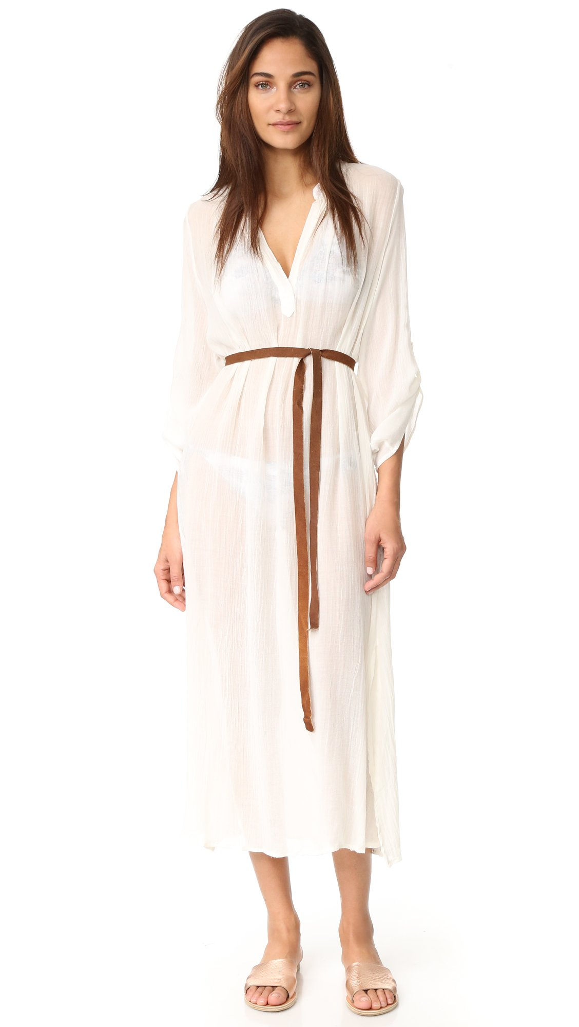 Eberjey Women's Summer Of Love Haven Cover Up Dress, Cloud, S/M by Eberjey (Image #4)