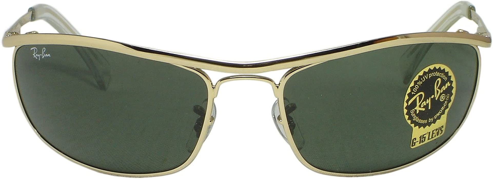 432bf3c6bd Amazon.com  Ray Ban RB3119 Olympian 001 Gold Sunglasses 62mm  Clothing