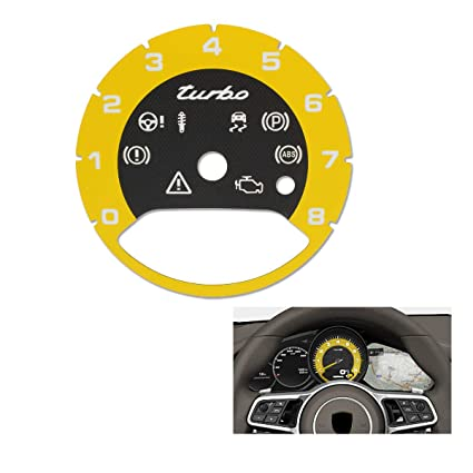 TOMALL Central Tachometer in Racing Yellow Compatible for 2017 2018 Porsche Cayenne Panamera Turbo Replacement Interior