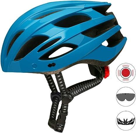 ZMYLOVE Casco de Bicicleta, con luz LED Gafas magnéticas ...