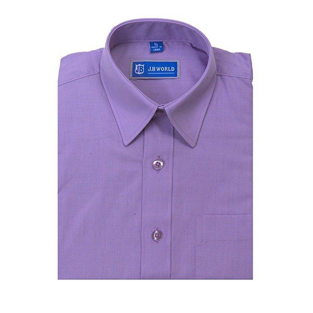 Amazon Jb World Big Boys Lavender Short Sleeve Button Front