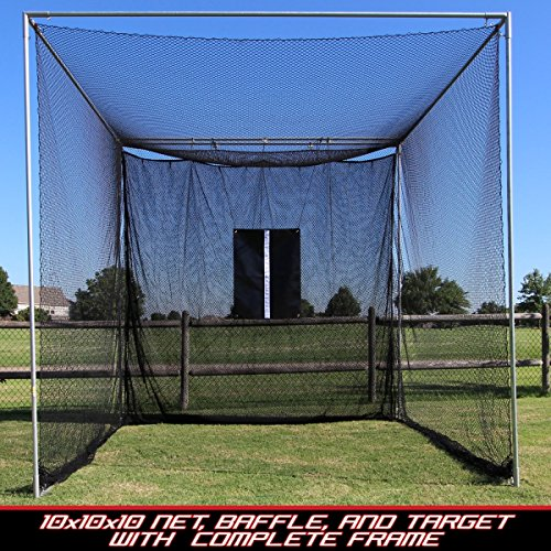 Portable Cage Backstop (Cimarron Sports Training Aids 10x10x10 Masters Golf Net with Complete Frame)