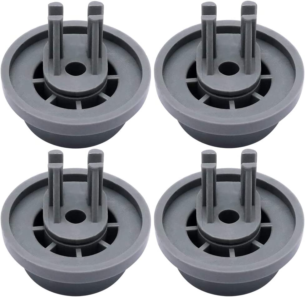 Primeswift Lower Dishrack Roller DD66-00023A with Mounting Clip (4 PK),Replacement Basket Roller for Samsung Dishwasher 2002711,PS4222532
