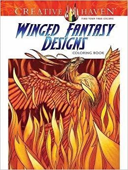 Creative Haven Winged Fantasy Designs Coloring Book Adult Aaron Pocock 0800759808878 Amazon Books