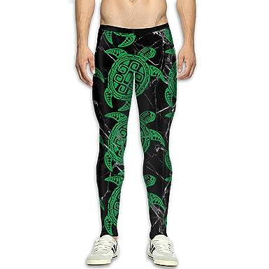 Amazon.com  Men s Tribal Maori Sun Turtle Printed Leggings High Waist Yoga  Pants Running Workout Tights  Clothing 66161869a
