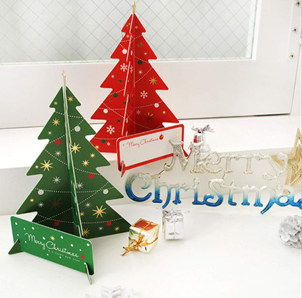 Christmas Greeting Cards Design.Merry Christmas Greeting Cards Creative 3d Christmas Trees Design Best Gift Greeting Cards Cards Envelopes Best Gift Cards For Kids Families