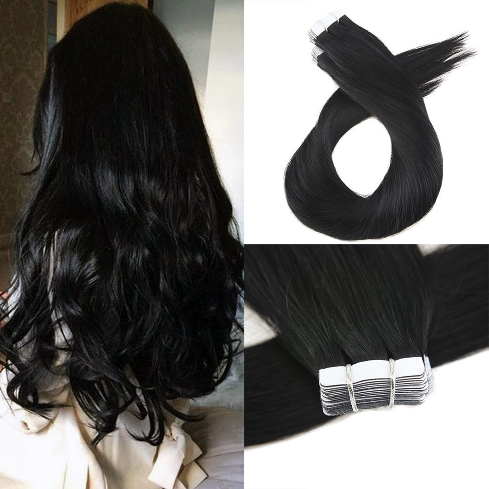 Amazon Moresoo 22 Inch Tape In Hair Extensions Remy Hair