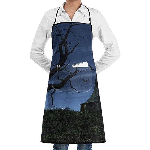 Eliuji Kitchen Chef Delantal con Peto Bat House Cuello Cintura ...