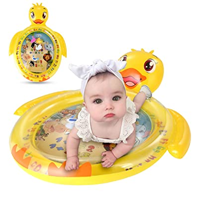 Luchild Inflatable Duck Water Mat for Baby Kids Play Patted Pad Infants & Toddlers Fun Tummy Time Play Activity Center Toy for Baby's Stimulation Growth: Toys & Games