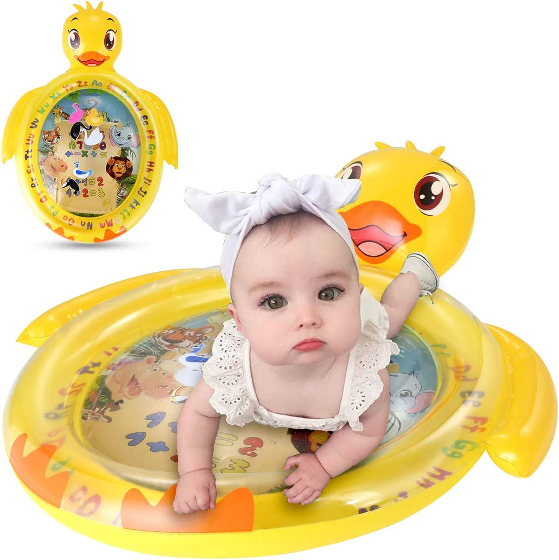 Luchild Outdoor Sprinkle and Splash Water Play Mat 67 Garden Water Toys Play Sprinklers Summer Fun Backyard Play for Infants