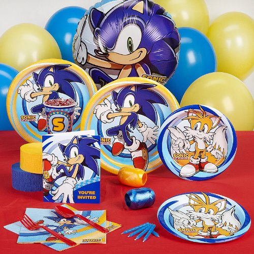 Sonic the Hedgehog Party Supplies - Standard Party Pack for 8 (Sonic Decorations)