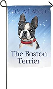 ClustersN It's All About The Boston Terrier Home Family Party Flag Hipster Welcomes The Banner Garden Flags
