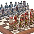 Great Wall of China Luxury Chessmen from Italy & Astor Place Chess Board Giant Size: King 5 3/4""