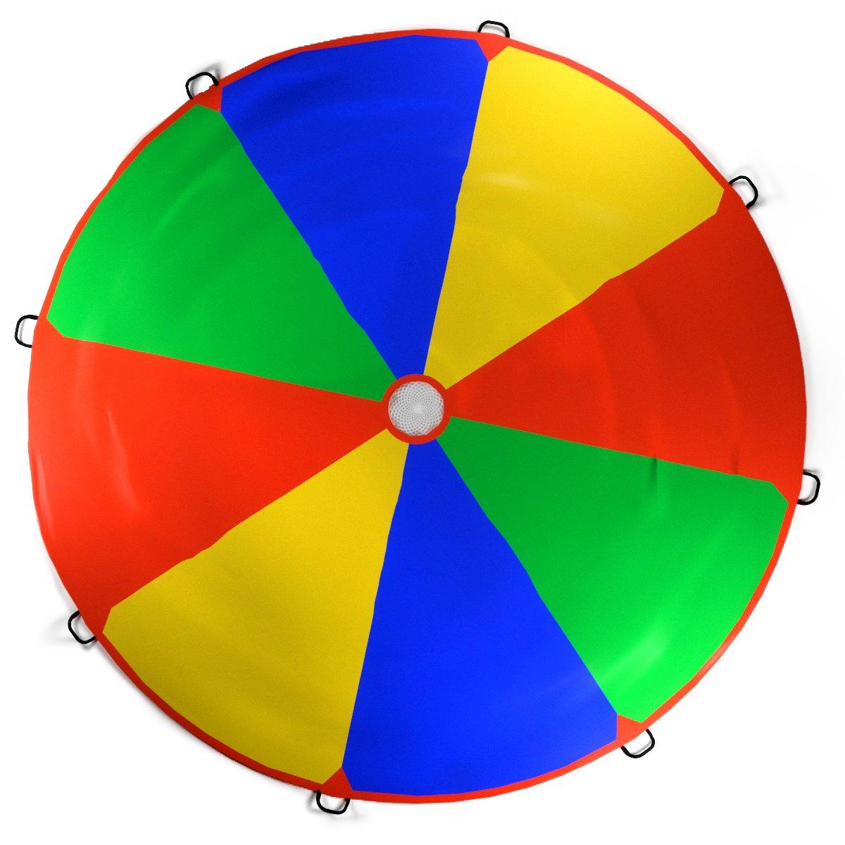 Célèbre Kenley 3,5m Paracadute Ludico Gioco per Bambini - Arcobaleno Telo  DD35