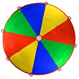 Kenley 3.5m 12ft Play Parachute Rainbow Toy Game for Kids Children - Outdoor Indoor Garden Party Sports Activities Group Exercise