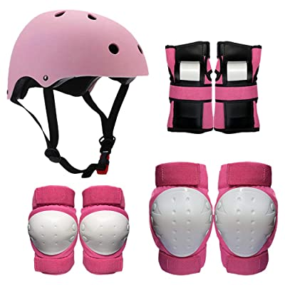 Lixada Protective Gear Set 7 in 1 Knee Elbow Pads Wrist Guards Helmet Multi Sports Safety Protection Pads for Kids Teenagers Adults Cycling Scooter Skating Cycling : Sports & Outdoors