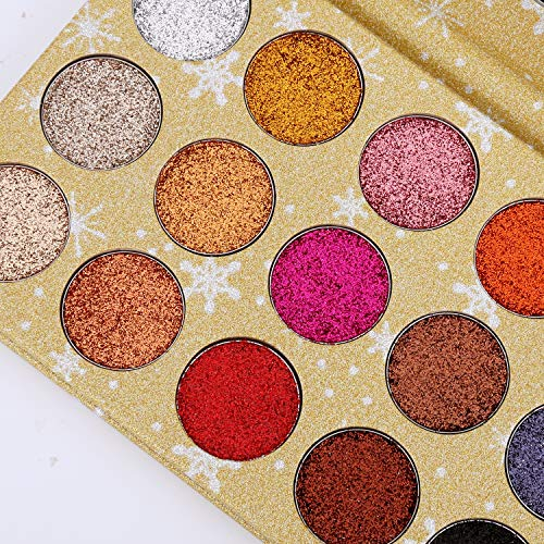 ELEVEN EVER 15 Colors Glitter Eyeshadow Palette, Professional Highly Pigmented and Long-Lasting Mineral Shimmer Makeup Pallet (Gold) by ELEVEN EVER (Image #4)