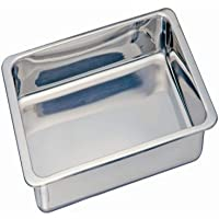 Kitchen Supply Stainless Steel Cake/Lasagna Pan, 13-Inches x 9-Inches x 2-Inches