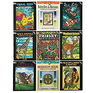 Stained Glass Coloring Book Assortment by S&S