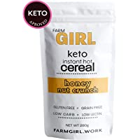 Farm Girl: Instant Keto Hot Cereal Breakfast, Gluten & Grain Free - Perfect Ketogenic Friendly Food - Low Carb High Protein Products - Good for Desserts and Diabetic Diets