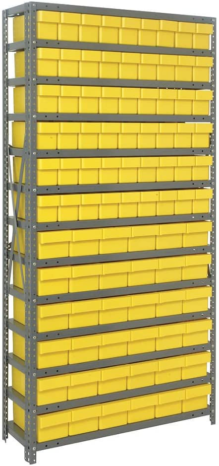 Amazon Com Open Shelving Storage System With Various Euro Drawers Bin Color Yellow Open Home Storage Bins Office Products