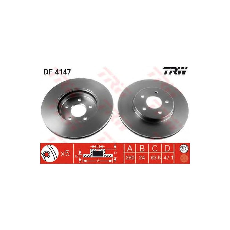 TRW DF4147 Rotores de Discos de Frenos