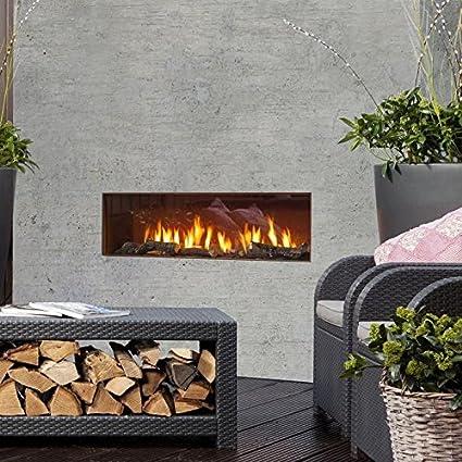 Faber Them Brentwood [Gas Chimenea Exterior]: acero corten Acero gerostet - propano/butano Gas - Botella decorativa madera: Amazon.es: Hogar