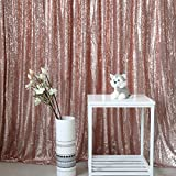 GFCC Rose Gold 5x9ft Sequin Backdrop Background Curtain Wedding Party Christmas Decoration Home Favors Photo Booth